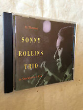 ST THOMAS SONNY ROLLINS TRIO IN STOCKHOLM 1959 DRCD 229 1993 JAZZ