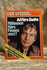 Der Spiegel 6/76 2.2.1976 Affäre Sachs - Millionen fürs Fin