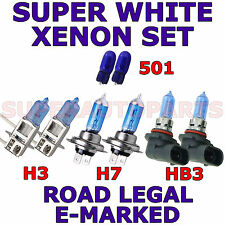 FITS TOYOTA CELICA 2000-ON   SET H7  H3  HB3  501 SUPER WHITE XENON LIGHT BULBS