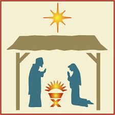 Nativity Stencil - Manger Set - Christmas - The Artful Stencil