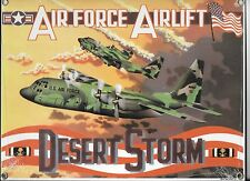 Ande Rooney C130 Hercules Transport Porcelain on Sign Desert Storm Air Lift AF