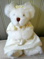 Russ Berrie Teddy Bear Plush Stuffed MARY Christening/Baptism/Confirmation 9""