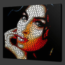 "AMY WINEHOUSE CIRCLE ART PICTURE PHOTO MODERN CANVAS PRINT 12""x12"" FREE UK P&P"