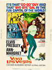 ELVIS PRESLEY - VIVA LAS VEGAS - HIGH QUALITY VINTAGE MOVIE/MUSIC POSTER