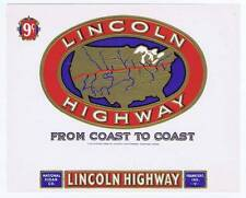Lincoln Highway   inner cigar box label