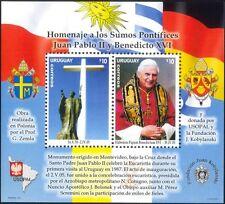 Uruguay 2005 Pope John Paul II/Benedict XVI/Popes/Religion/Papal 2v m/s (n35419)