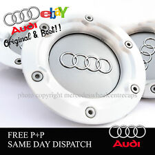 SET OF X4 AUDI ALLOY WHEEL CENTRE CAPS 147mm RS4 + RONAL TT A1 A2 A3 A5 A4 A6 A8