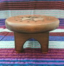 Moroccan Style Hand Carved Wooden Display Table Plant Stand X Small Brown