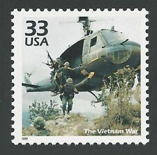 1960s The Vietnam War Combat Troops Military Soldiers Helicopter US Stamp MINT!