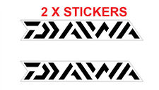 2 X DAIWA DECAL STICKER FOR BOATS /FISHING 209MM X 30MM WHITE
