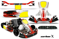 AMR Racing Graphics KG Unico Racing Kart Sticker Decal Kit Wrap CARBON X RED