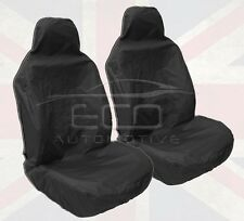 NISSAN NAVARA NP300 DOUBLE CAB 2016 ON WATERPROOF BLACK FRONT SEAT COVERS PAIR