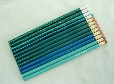 """24  """"Shades of Turquoise-Teal"""" Personalized Pencils w/Glitzy"""