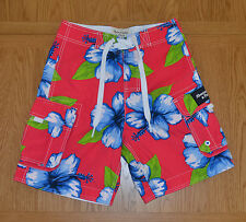 Abercrombie & Fitch Green Mountain Swim Board Shorts Pink Floral Tugger XS £64
