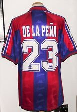 VINTAGE BARCELONA 1996 KAPPA PLAYERS SHIRT DE LA PENA XL SPAIN CAMISETA