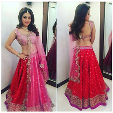 Bollywood Silk Lehenga Choli Indian Work Party Designer Wear Wedding Suit