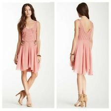 142343 New $780 Free People Pop Champagne Beaded Embellished Peach Tunic Dress L