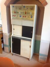 Vintage Kitchen Larder Unit Cupboard Retro 1950s Kitsch Rare Black White Mid Cen