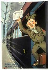 Cartolina Militare Umoristica - Biglietto Speciale Per Treno Di Lusso (Congedo)