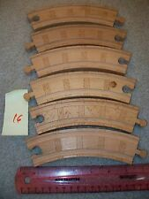 Lot Used 5 curve  Wooden Train track Play toy