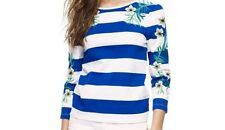 Juicy Couture NWT 3/4 Sleeve Stripe  Size XS