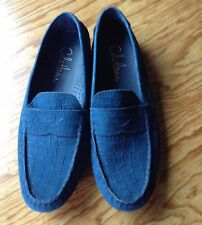 Cole Haan Nike Air Blue Woven Moccasin Loafers Women's Size 8.5 B