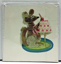 Original Vintage Poster of Kangaroo with Birthday Cake
