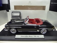 1:18 norev mercedes 190sl negro Black dealer Edition nuevo New