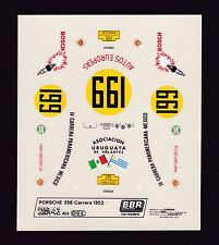 NEU BBR Decal Sheet Porsche 356 Carrera Panamericana 1953 Nr199 Scale 1/43