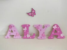 "Girls 3"" hand made capital letters door/wall plaques"