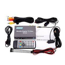 240km/h in Car Mobile Digital HD DVB-T TV Receiver Box Double Tuner MPEG-4 H.264