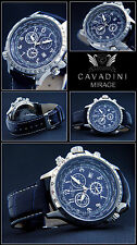 LUXURY MIRAGE CHRONGRAPH ORIG.CAVADINI WATCH TACHYMETER SWIVELLING RING