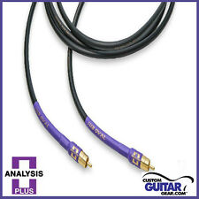 Analysis Plus Sub Oval Interconnects w/ RCA Connectors, Length 3.5 Meters