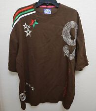 Gino Green Global 2XL T-Shirt Brown Mens Tee Shirt