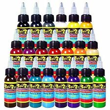 Solong Tattoo® 21 Basic Colors Tattoo Ink Set Pigment Kit 1oz 30ml #5JE