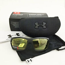 UNDER ARMOUR BATTLEWRAP BALLISTIC SUNGLASSES  SATIN BLACK / YELLOW  W/CASE 16605