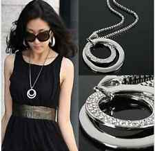 New Arrive!Fashion Women's Silver Plated Long Chain Pendant Necklace Jewelry