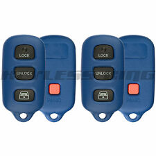 2 New Blue Replacement Keyless Entry Car Key Fob Remote Control Shell Pad Case