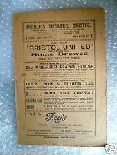 1921 Theatre Programme IRENE- J Montgomery,H Tierney,Billie Brownz,B Delabere