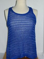 NWT American Eagle Crossback Sweater Tank Color Neon Blue Size Large