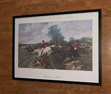 Full Cry - J F Herring print - 1991 vintage hunting print - framed 70x50cm