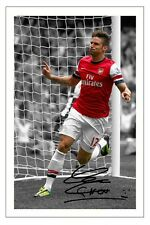 OLIVIER GIROUD ARSENAL SIGNED AUTOGRAPH PHOTO PRINT 2013/14 SOCCER