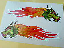 DRAGON FLAMES Custom Car Hot Rod Van Stickers Decals 2 off 100mm