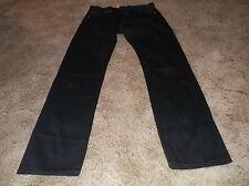NEW Men's LEVI'S 501 Straight Leg Button Fly Black Denim Jeans Sz 31 x 34 Cotton
