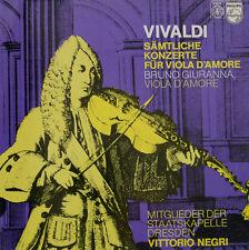 VIVALDI - NEGRI - GIURANNA - SÄMTLICHE KONZERTE FÜR VIOLA D AMORE   LP (c952)