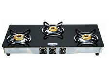 Fastcook 3 Burner Gas Stove Black Glass top
