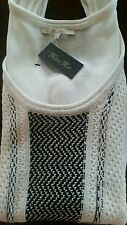 LADIES MISS ME MIXED MANIA KNIT TANK  MDSW053T-WHITE SIZE S SUPER CUTE NW TAGS