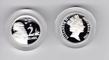 1988 Sterling SILVER Proof $2 Aboriginal Elder Australia Art out Masterpieces -