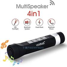 4 in1 Waterproof Bluetooth Bike Speaker Mic For Call/ FM /Power Bank /Flashlight