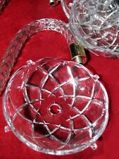 """Set of 6  CLEAR 4"""" LUCITE ACRYLIC 4 PIN CHANDELIER BOBECHES  3/8"""" Center Hole"""